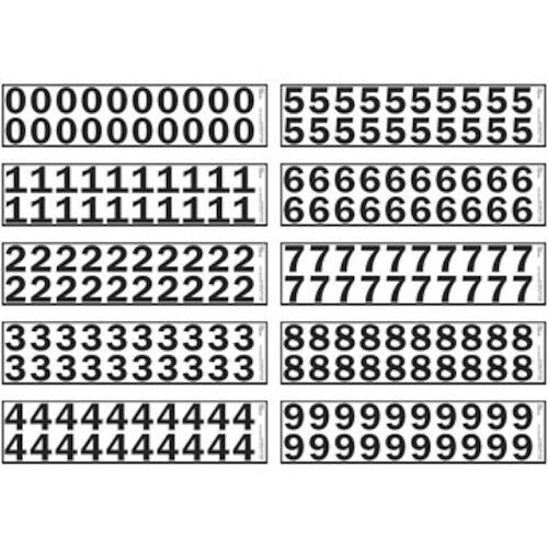 """1.25"""" Vinyl Numbers Kit (05630)"""