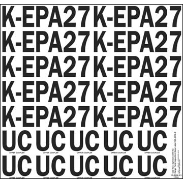 Test & Inspection Label - K-EPA, UC (05634)