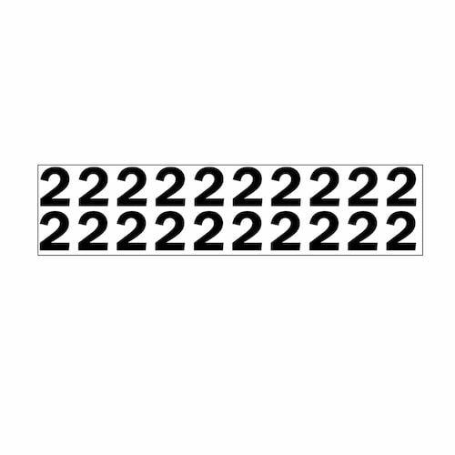 """Individual 1.25"""" Vinyl Numbers - 2 (Two) (05637)"""