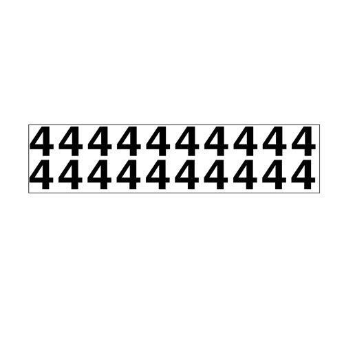 "Individual 1.25"" Vinyl Numbers - 4 (Four) (05639)"