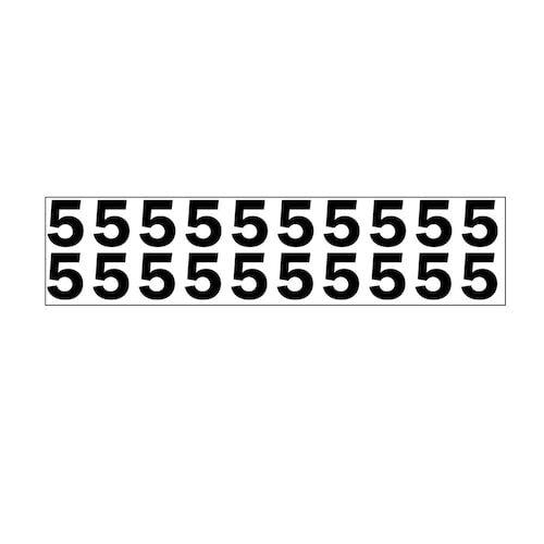 """Individual 1.25"""" Vinyl Numbers - 5 (Five) (05640)"""