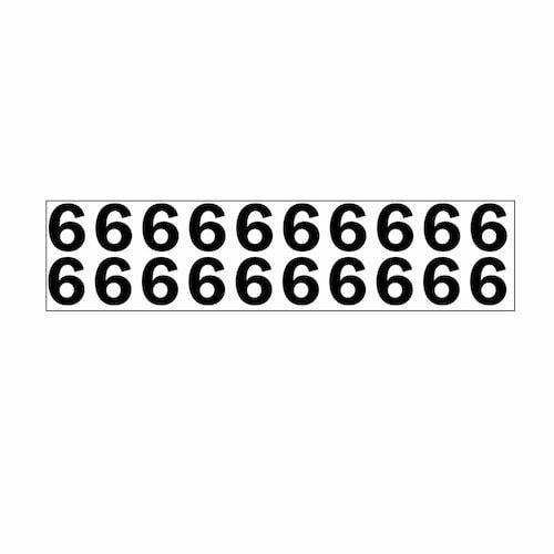 "Individual 1.25"" Vinyl Numbers - 6 (Six) (05641)"