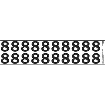 "Individual 1.25"" Vinyl Numbers - 8 (Eight) (05643)"