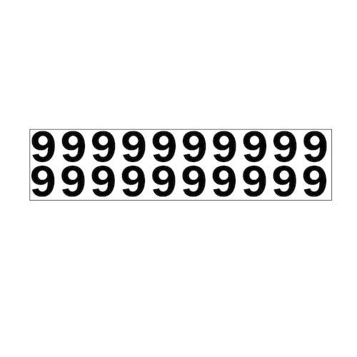 """Individual 1.25"""" Vinyl Numbers - 9 (Nine) (05644)"""