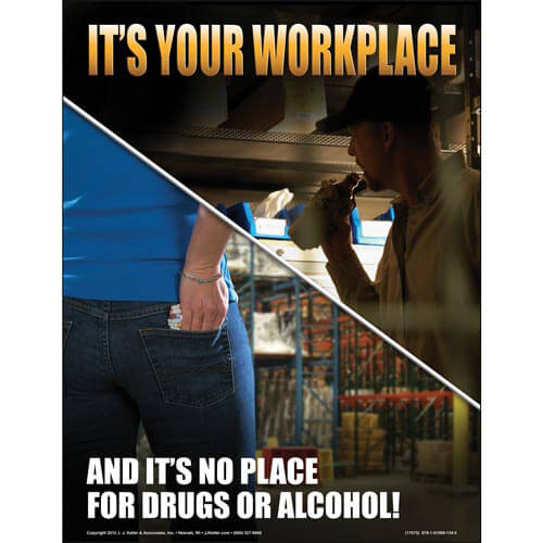 Substance Abuse Training for Supervisors and Employees Training Program - Awareness Poster (05651)