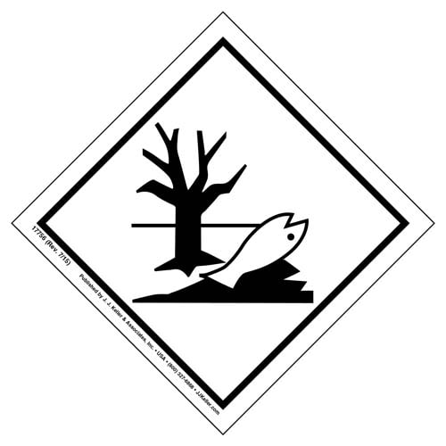 International Dangerous Goods Labels - Marine Pollutant - Vinyl (05705)