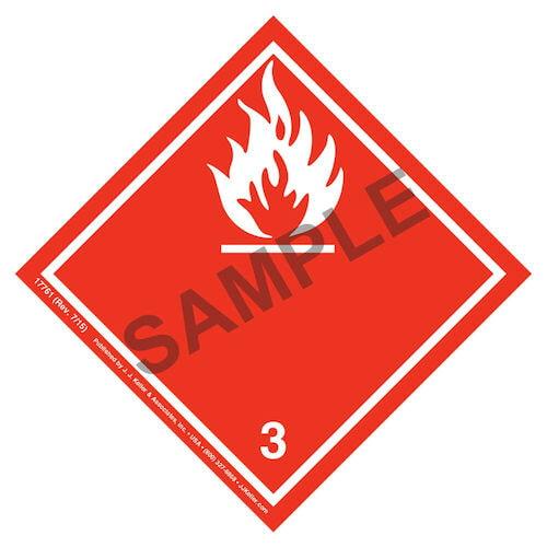 International Dangerous Goods Labels - Class 3 -- Flammable Liquid - Vinyl (05710)