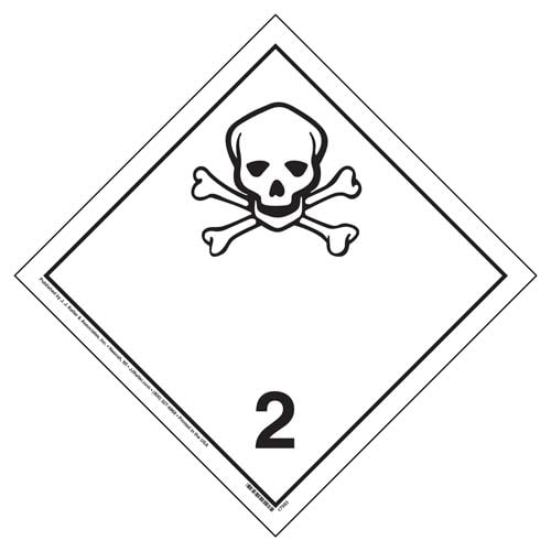 International Dangerous Goods Placard - Toxic Gas (Class 2), Vinyl (05868)