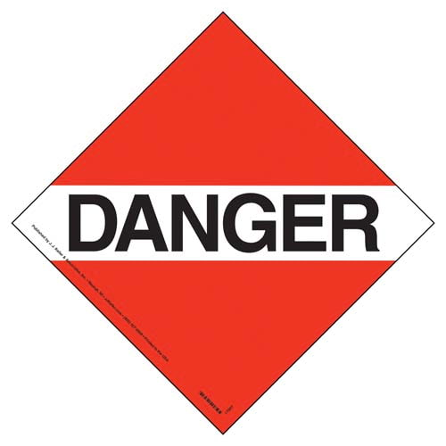 Canadian Danger Placard - Worded (05855)