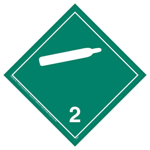 International Division 2.2 Non-Flammable Gas Placard - Wordless (05857)