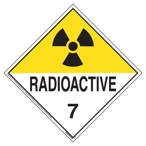 International Class 7 Radioactive Placard - Worded (05862)
