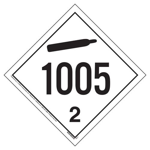 1005 Placard - International Division 2.2 Non-Flammable Gas (05869)
