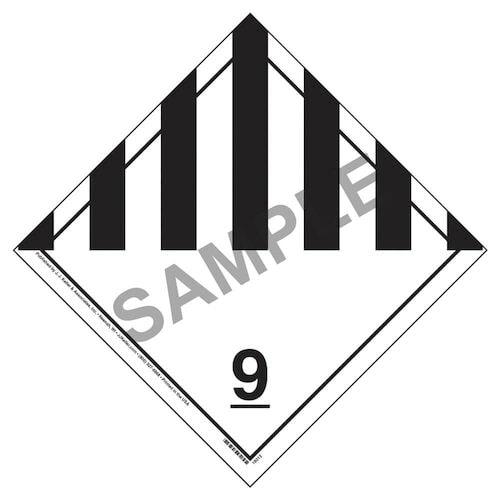 International Class 9 Miscellaneous Placard - Wordless (05870)
