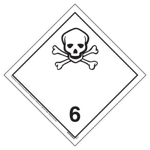International Division 6.1 Toxic Substances Placard - Wordless (05871)