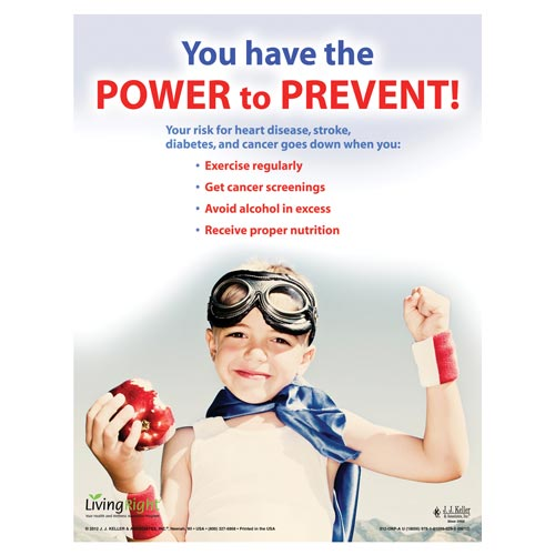 "Prevention - Health & Wellness Awareness Poster - ""You Have the Power to Prevent"" (05906)"
