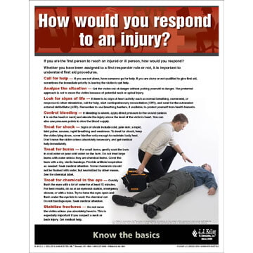 "First Aid - Workplace Safety Advisor Poster - ""How would you respond to an injury?"" (05968)"