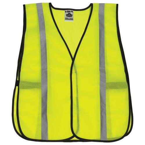 Standard Mesh Safety Vest - Silver Reflective Stripes (06357)