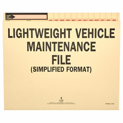 Vehicle Maintenance - File Folder (00200)