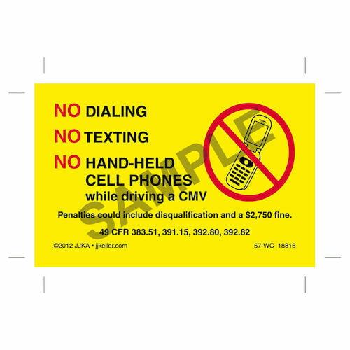 No Texting Wallet Card (06408)