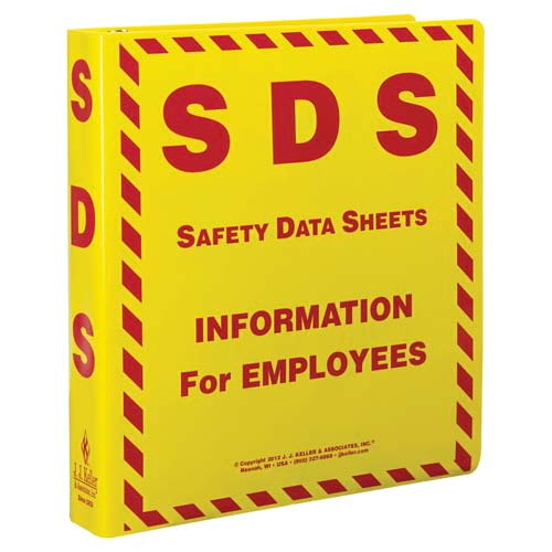 "Safety Data Sheet Binder - 1.5"" Ring Capacity (06448)"