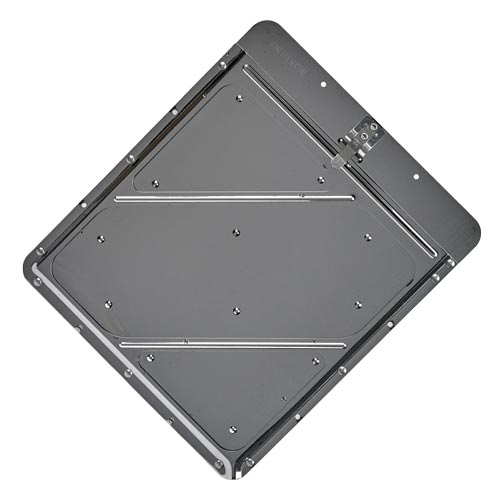 Stainless Steel Placard Holder w/Back Plate (01711)