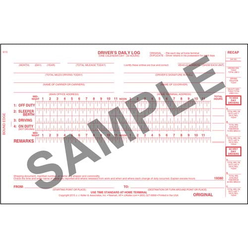 Bus Driver's Daily Log Book, 2-Ply, w/Carbon - Personalized (00826)