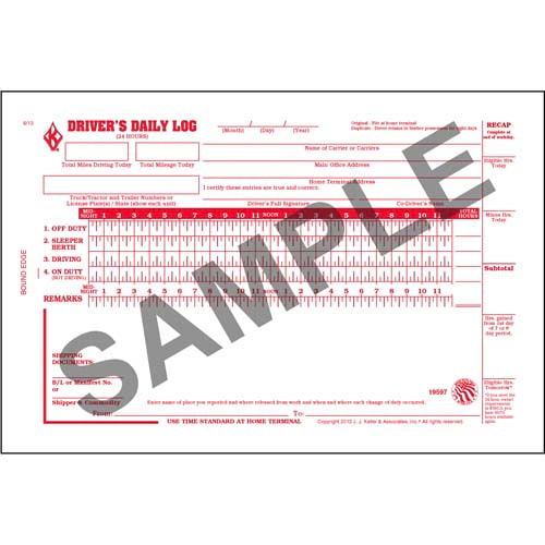Driver's Daily Log Book w/Detailed DVIR, 2-Ply, w/Carbon, w/Simplified Recap - Personalized (00996)