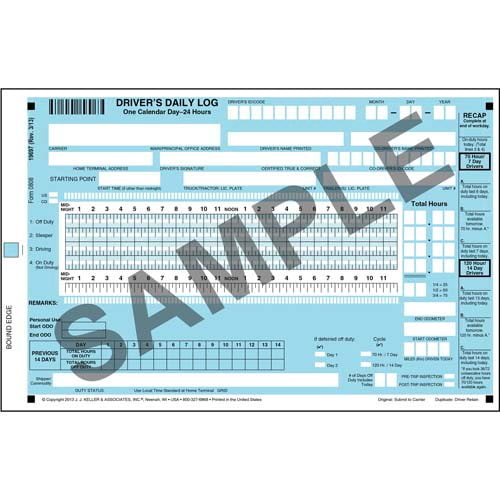 Scannable Driver's Daily Log Book - Canadian - Personalized (01482)