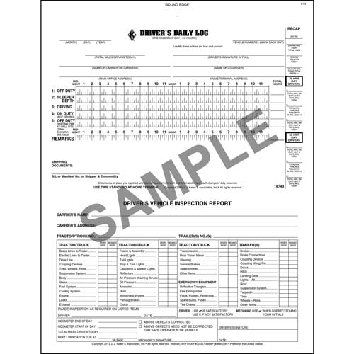 Oil Field Log w/Daily Recap & DVIR, 2-Ply, Carbonless, Book Format - Personalized (08377)