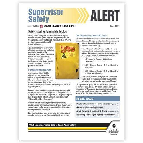 J. J. Keller® Supervisor Safety Alert Newsletter (02790)