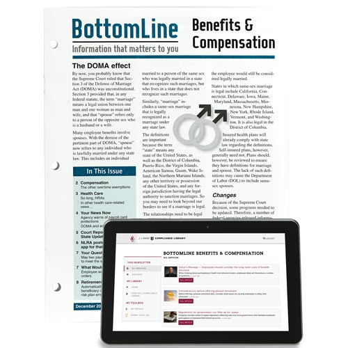 BottomLine Benefits & Compensation: Information That Matters To You (00070)