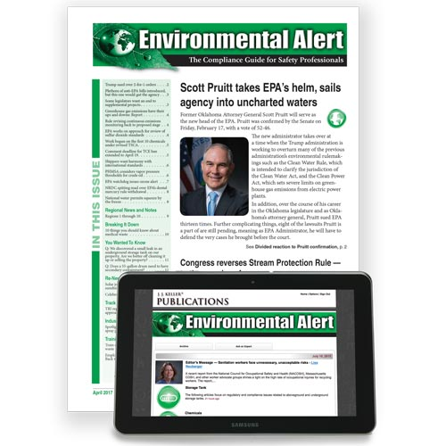 Environmental Alert: The Compliance Guide for Safety Professionals (02796)