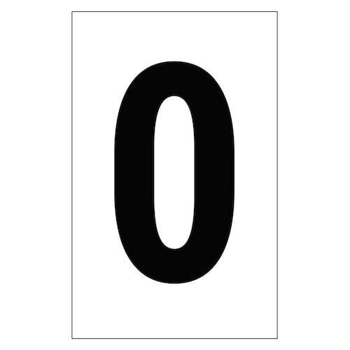 "Individual 2"" Vinyl Numbers - 0 (Zero) (00635)"