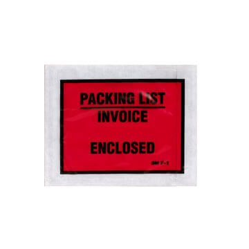 Packing List/Invoice Enclosed Envelope Labels - Full Panel (00676)