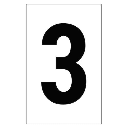 "Individual 2"" Vinyl Numbers - 3 (Three) (00644)"