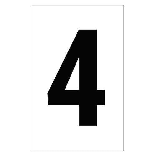 "Individual 2"" Vinyl Numbers - 4 (Four) (00646)"