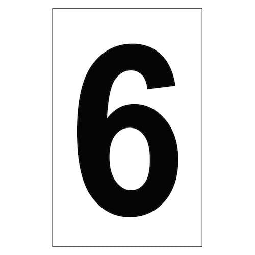 "Individual 2"" Vinyl Numbers - 6 (Six) (00650)"