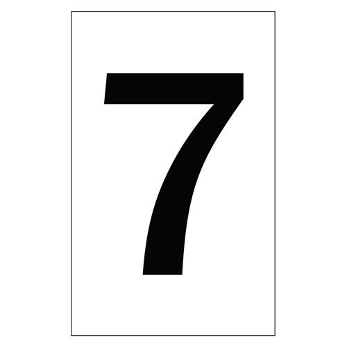 "Individual 2"" Vinyl Numbers - 7 (Seven) (00652)"