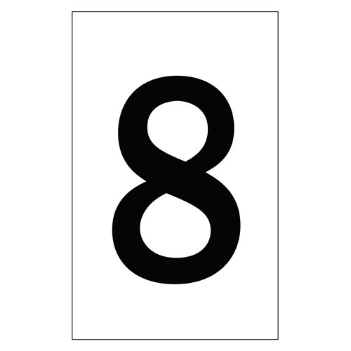 "Individual 2"" Vinyl Numbers - 8 (Eight) (00654)"