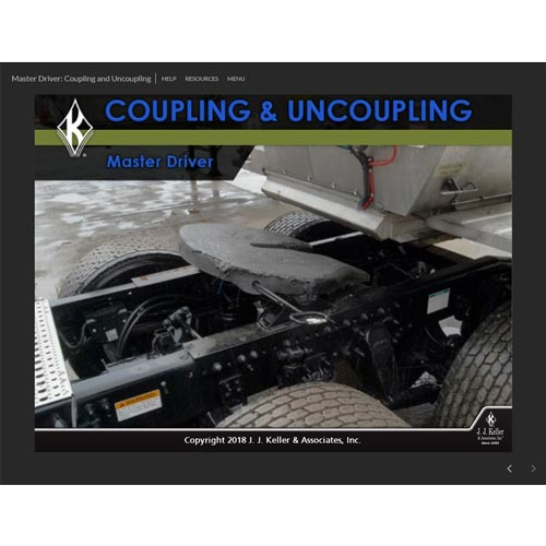 Coupling And Uncoupling : Master driver coupling uncoupling online training course