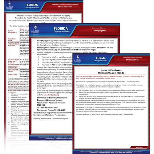 Florida & Federal Electronic Labor Law Poster Management Service (00653)