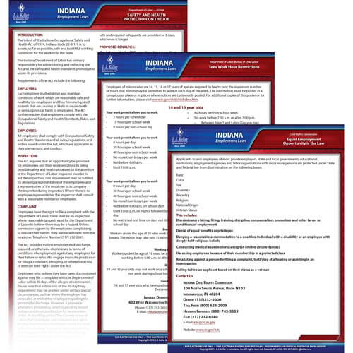 Indiana & Federal Electronic Labor Law Poster Management Service (00660)