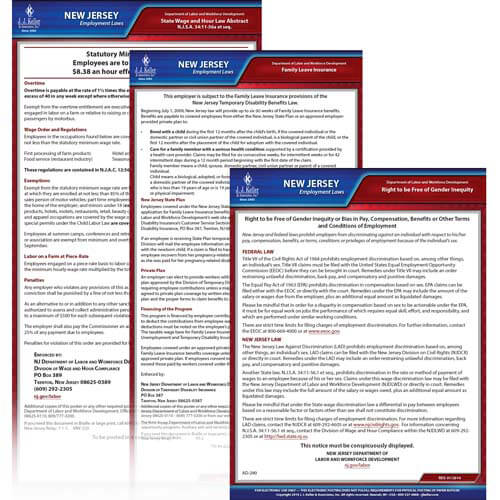 New Jersey & Federal Electronic Labor Law Poster Management Service (00675)