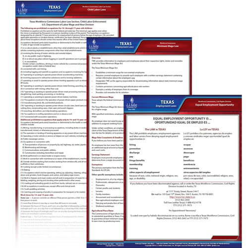 Texas & Federal Electronic Labor Law Poster Management Service (00609)