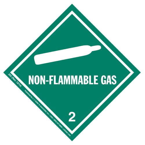 Class 2 Non-Flammable Gas Labels (01266)