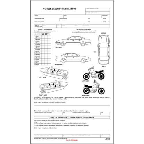 Vehicle Descriptive Inventory (01886)