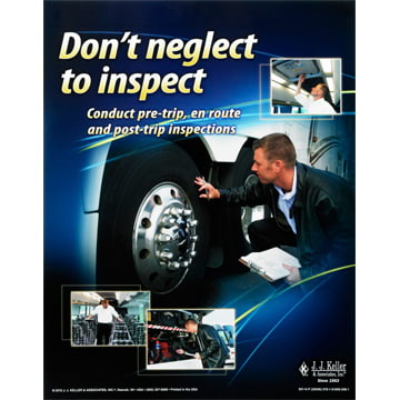 Motorcoach Vehicle Inspections Training Program - Awareness Poster (06905)
