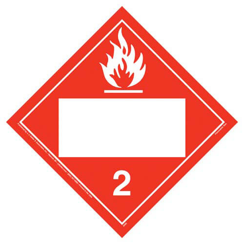 Division 2.1 Flammable Gas Placard - Blank (02298)