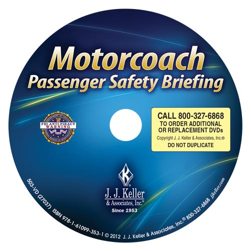 Motorcoach Passenger Safety Briefing - DVD Training (07001)