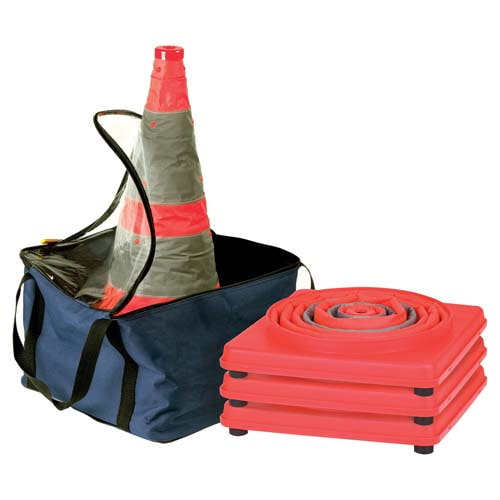 "28"" Collapsible LED Traffic Cone - 4-Pack (07010)"